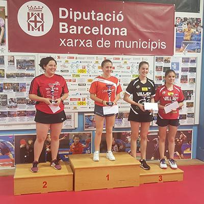 Podi individual del Campionat de Catalunya Absolut