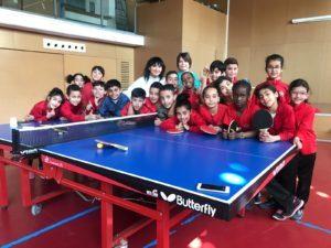 Tennis taula a les escoles Balaguer