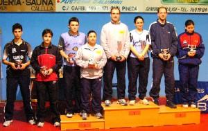Podi dobles mixtes Campionat de Catalunya Absolut
